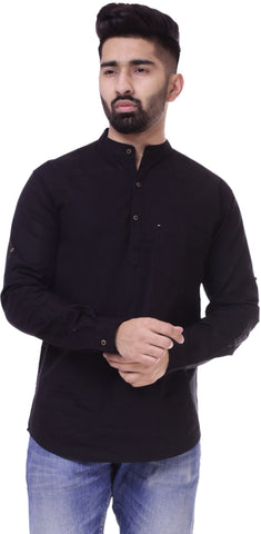 BlackColor Cotton Men's Solid Shirt - ST409