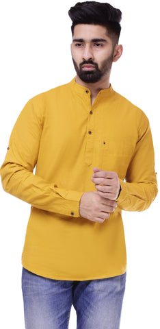 YellowColor Cotton Men's Solid Shirt - ST410