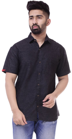 BlackColor Cotton Men's Solid Shirt - ST414
