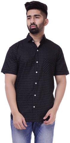 BlackColor Cotton Men's Solid Shirt - ST420
