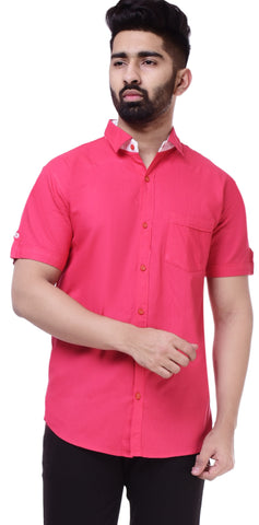PinkColor Cotton Men's Solid Shirt - ST424