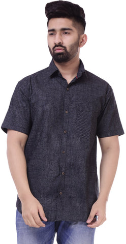 BlackColor Cotton Men's Solid Shirt - ST426