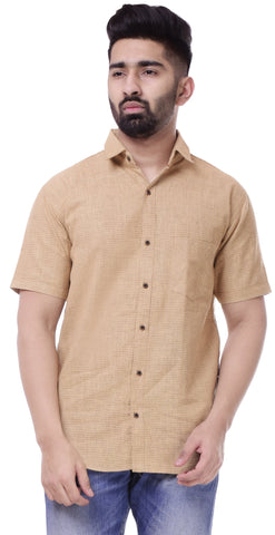 Sky BlueColor Cotton Men's Solid Shirt - ST429