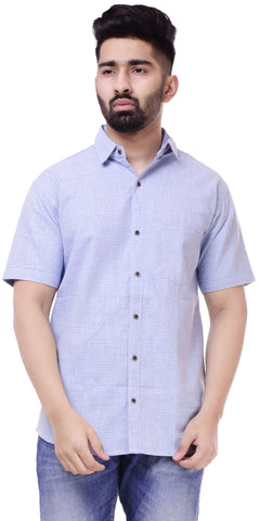 BeigeColor Cotton Men's Solid Shirt - ST430