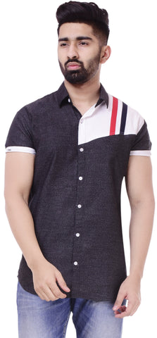 BlackColor Cotton Men's Solid Shirt - ST432