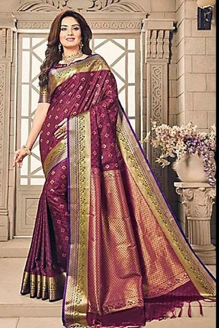 Maroon Color ArtSilk Saree - SUPRITA001