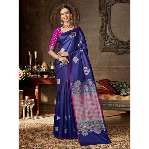 Blue Color Silk Saree - SWEL40806