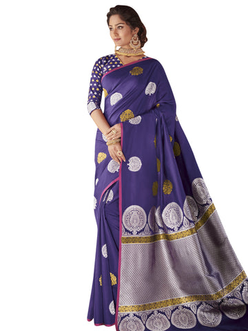 Blue Color Banarasi Silk Saree - SYS-2122