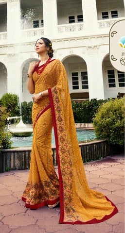 Yellow Color Georgette Saree - S_128