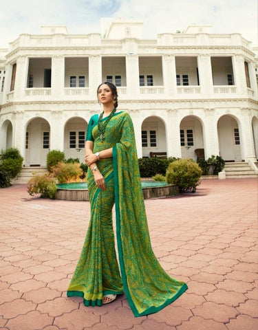 Green Color Georgette Saree - S_228