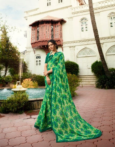 Light Green Color Georgette Saree - S_428
