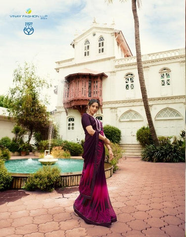 Purple Color Georgette Saree - S_628