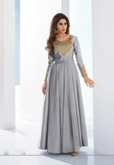 Buy Grey Color Soft Silk Stitched Kurti