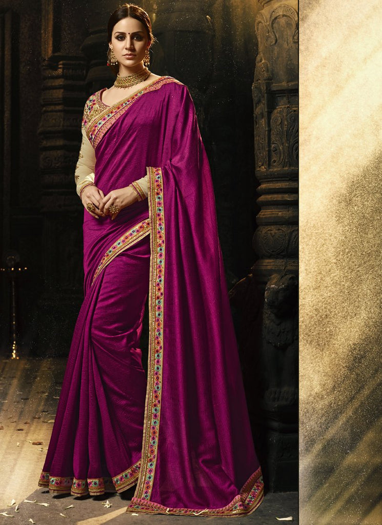 Buy Pink Color Magic Silk Saree