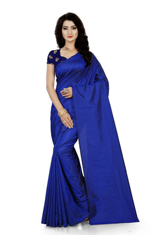 Berry Blue Color Jacquard Silk Saree - Saree-Sana-Berry-Blue