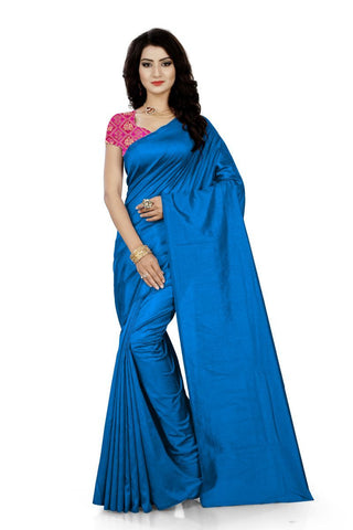 Light Blue Color Jacquard Silk Saree - Saree-Sana-Blue