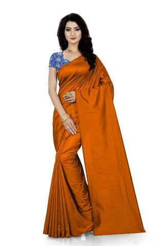 Brown Color Jacquard Silk Saree - Saree-Sana-Brown