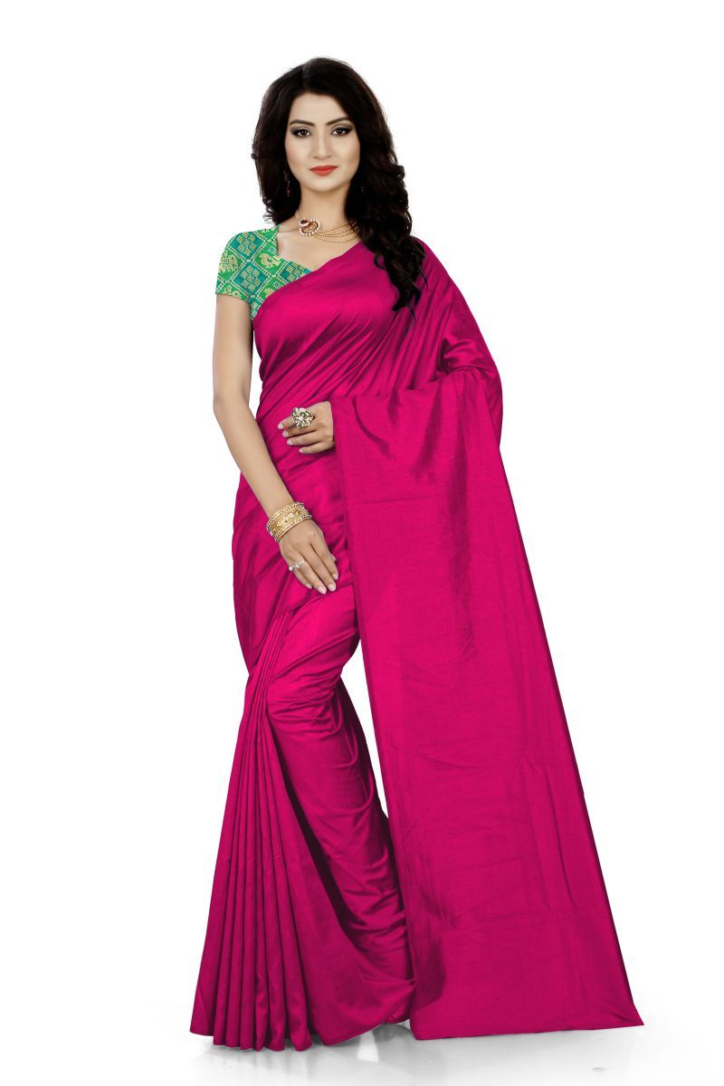Green Synthetics Floral Print Fashion Georgette Saree