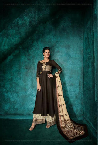 Black Color Pure heavy Maslin Stitched  Salwar  - Sarthi5-724