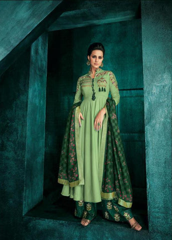 Light Green Color Pure heavy Maslin Stitched  Salwar  - Sarthi5-726