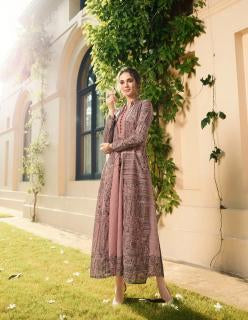 Dusty Light Pink Color Rayon Print Stitched Kurti - Shaavi-11025