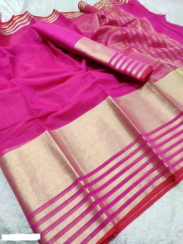 Pink Color Cotton Saree - Shree_056