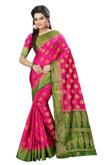 Buy Pink Color Nylon Dyeable Saree