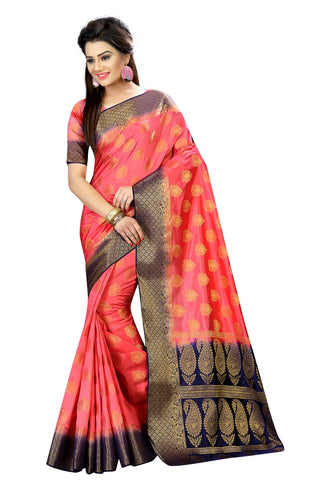 Peach Color Nylon Dyeable Saree - Siya3-2011