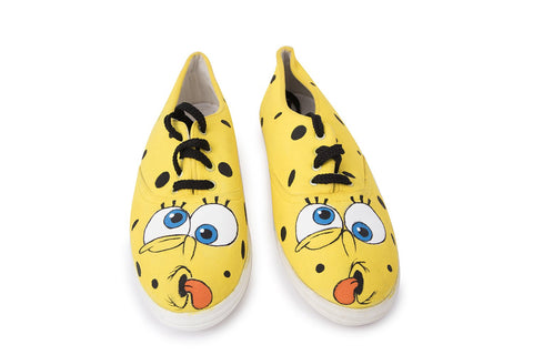 Multi Color  Canvas Unisex Shoe - Sponge-Bob-16