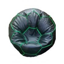 Black Color Bean Bag Cover With Out Bean - Sporty Bean Football-1