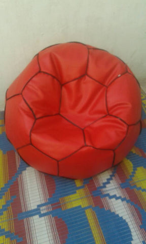 Red Color Bean Bag Cover With Out Bean - Sporty Bean Football-2