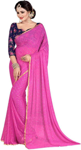 Light Pink Color Nazneen Saree  - Star-LightPink