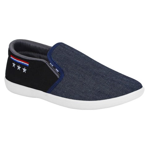 Blue And Black Color Synthetic Men Shoes - Star3-Blue
