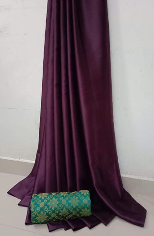 Violet Color Soft Super Soft Silk Saree - SuperSatinSilk-04