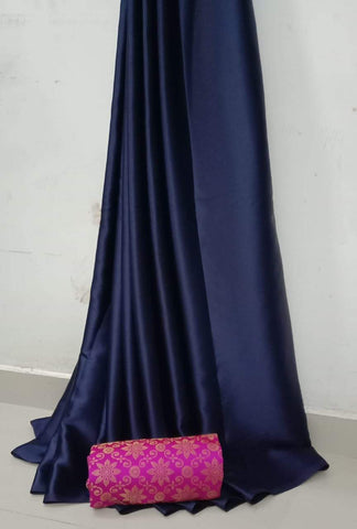 NavyBlue Color Soft Super Soft Silk Saree - SuperSatinSilk-06