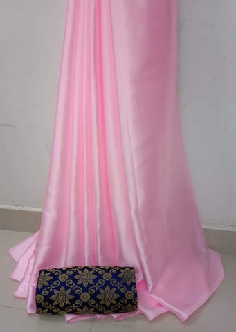 BabyPink Color Soft Super Soft Silk Saree - SuperSatinSilk-07