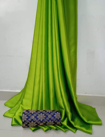 Green Color Soft Super Soft Silk Saree - SuperSatinSilk-08