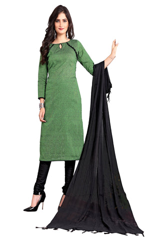 Olive Green Color Cotton Stitched Salwar - Suphandloom-1005