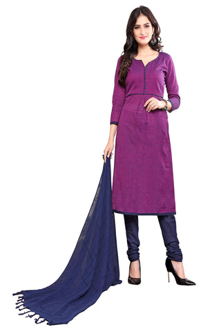 Purple Color Cotton Stitched Salwar - Suphandloom-1008