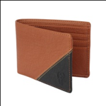 Brown Color Velvet Men's Wallet - TAN-BLK-ALB