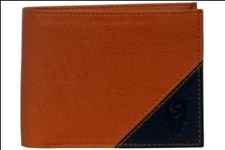 Brown Color Velvet Men's Wallet - TAN-BLK-CNTNR