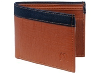 Brown Color Velvet Men's Wallet - TAN-BLK-CP