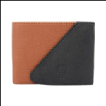 Multi Color Velvet Men's Wallet - TAN-BLK-KAN