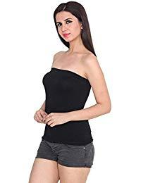 Black Color Cotton Stitched Camisole - TC001-Black