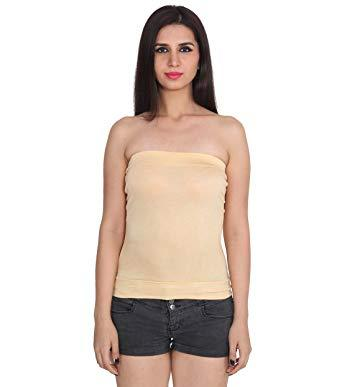 Skin Color Cotton Stitched Camisole - TC001-Skin