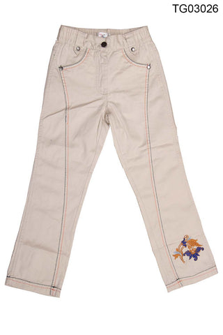 YOUNG BIRDS-BEAUTIFUL HALF WHITE COLOUR WITH EMBOIDERY PANT FOR GIRLS - TG03026