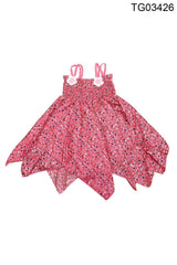 YOUNG BIRDS-BEAUTIFUL  PINK COLOUR HAND KERCHIEF DRESS FOR GIRLS - TG03426