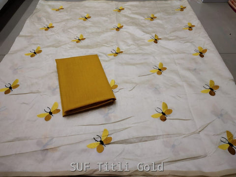 White Color Silk Saree - TITALI GOLD