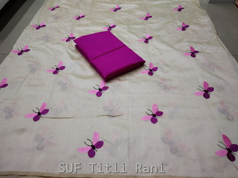 White Color Silk Saree - TITALI RANI