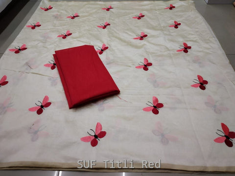 White Color Silk Saree - TITALI RED